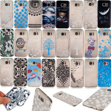 Patterns Phone Case for Samsung Galaxy S6 Edge S5 S4 Soft TPU Rubber Back Cover