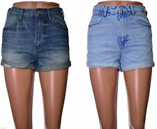 High waisted denim shorts Distressed rolled hems ROSA Size 4 6 8 10 12 14 16