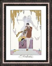 """Georges Barbier LAutomne Framed Canvas Giclee Print 27""""x35"""" (V12-25)"""