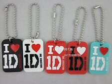 I love 1D key tag, One direction dog tag with Keychain