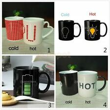 Ceramic Color Changing Temperature Heat Sensitive Reactive Mug Tea Coffee Cup