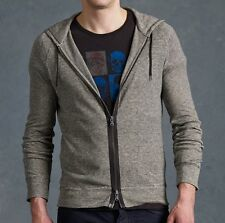 John Varvatos Star USA Men's Zip Front Raglan Sleeve Hoodie Black $168 msrp NWT
