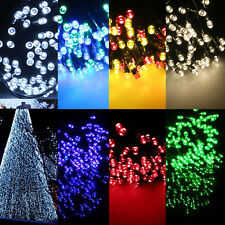 60 100 150 200 LED Solar Powered Fairy String Light Lamp Garden Party Decor XMAS