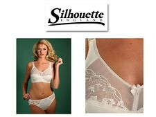 Silhouette Lingerie Cascade Soft Cup Bra 3106 In Black White Or Pearl/Ivory