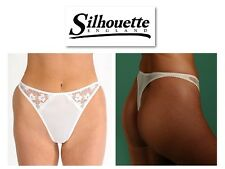 Silhouette Lingerie Cascade Bridal Thong 3100 In Black White Or Pearl/Ivory