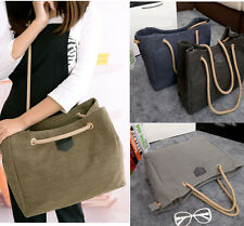 women's canvas shoulder bag handbag simple fashion Shoppers messenger Book bag