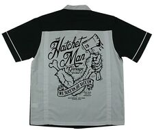 LUCKY 13 HATCHET MAN GARAGE SLICE DICE GOTH TATTOO PUNK BOWLER T SHIRT M-3XL