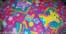 Care Bears Fleece Baby Blanket Hand Tied Pink Blue Pet Lap Blanket Shower Gift