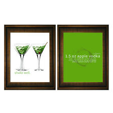 Positively Home Double Appletini 2 Piece Framed Graphic Art Set