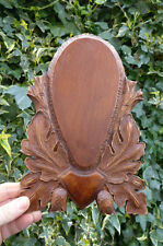 Carved Trophy Mounting Plaque Wooden Shield for Roe Deer Taxidermy Handmade -3*
