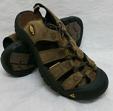 "New! Mens Keen- ""Newport"" Leather Sport Sandals in Bison 110220-BISN NICE D62"