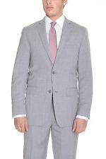 Alfani RED Slim Fit Solid Heather Gray Two Button Wool Blend Suit
