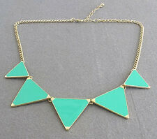 Geometric Chain Hot Choker Triangle Necklace Pendant Bib Collar Enamel Fashion