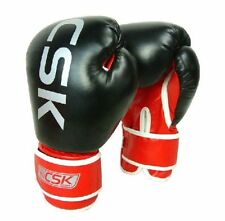 14oz CSK Boxing Sparring Gloves MMA Punch Bag Mitt Fight Training Red Black