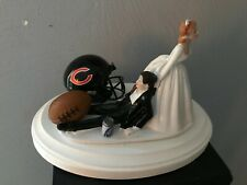 Chicago bears Cake Topper Bride Groom Wedding day NFL Funny Football Theme