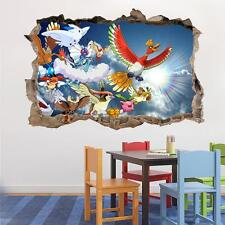 SKY POKEMON Smashed Wall Decal Removable Graphic Wall Sticker Decor Art H210