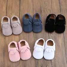 Newborn Baby Soft Sole Suede Leather Shoes Kids Infant Boy Girl Toddler Moccasin