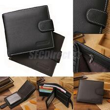 New Mens Pu Wallets Slim Trifold Vinatge ID Wallet Coin Pocket Free Shipping