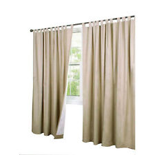 Thermalogic Weather Cotton Fabric Window Tab Curtain Panels Pair Khaki
