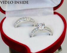 Brilliant Cut 3.18 CT Fine Jewellery Rings Engagement Ring Silver Made in Italy