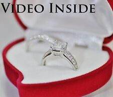 Fine Jewellery Rings 3.10 CT Princess Cut Engagement Diamond Ring Made in Italy