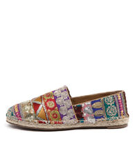 New I Love Billy Upton Natural Multi Women Shoes Casuals Flats Flats