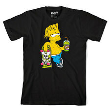 "Neff x The Simpsons ""Chillin"" Bart Tee (Black) Men's S/S Graphic T-Shirt"