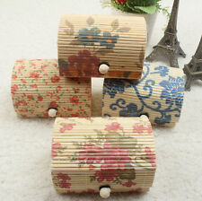 1pcs Storage Boxes Cute Jewelry Boxes Case Gift Box Jewelry Bamboo Wooden New