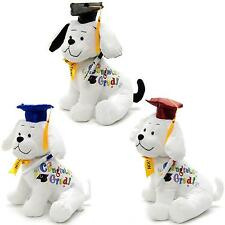 "12"" Congrats Grad Graduation Dog w/Signing Autograph Pen Stuffed Animal Gift Toy"