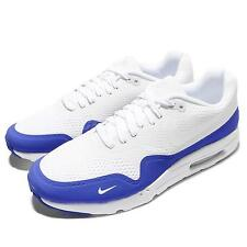 Nike Air Max 1 Ultra Essential White Blue Mens Running Shoes NSW 819476-114