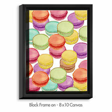 'Laduree Macaroons II' by Diana Evans Painting Print on Wrapped Framed Canvas