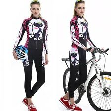 Women's Cycling kIt Long Sleeve Cycling Jerseys & Pant Set Racing Biking Jerseys