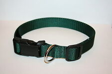 Forest Green Nylon Adjustable Dog Collars & Martingales & Leashes