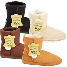 Originals Ugg Australia Short Sheepskin Boots Black Chestnut Womens Mens 4 6 8