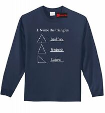 Name The Triangles Funny Math L/S T Shirt Geometry College Teacher Tee Z1