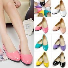 2017 Womens Ballet Flats Ballerina Slippers Dolly Pumps Slip On Work Boat Shoes