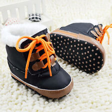 Toddler Baby Boys Artificial fur Lining winter boots Baby Shoes Size 0-18 Mth