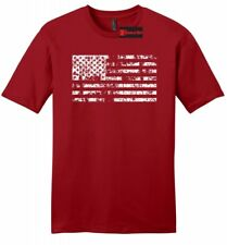 Distressed American Flag Mens Soft T Shirt American Pride USA July 4th Tee Z2