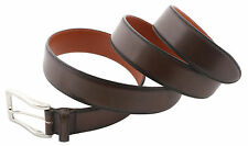 Santoni Men's Dark Brown Calf Leather Belt, size 105