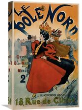 'Le Pôle Nord ' by Georges Ripart Vintage Advertisement on Wrapped Canvas