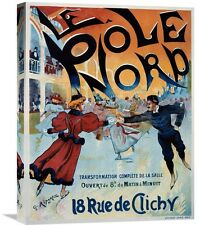 'Le Pôle Nord' by Georges Ripart Vintage Advertisement on Wrapped Canvas