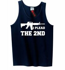 I Plead The 2nd Mens Tank Top Gun Rights Second Amendment AR15 Sleeveless Tee Z3