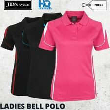 Ladies Bell Polo Women Sporty Team Workout Fitness Collar Shirt Casual Size 8-24