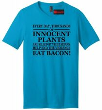 Every Day Plants Are Murdered Eat Bacon Funny Mens V-Neck T Shirt Gift Tee