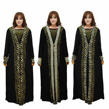 Muslim Women Plus Size Loose Fitting Maxi Dress Kaftan Abaya Jilbab Arab Clothes