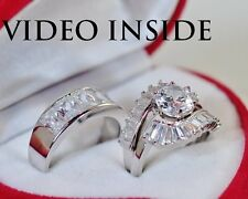 5.08 Carat Engagement & Wedding Engagement/Wedding Ring Sets St Silver Jewelry