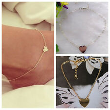 1pcs Sexy Gold/Silver Heart Shaped Anklet Ankle Chain Bracelet Foot Jewelry KIS