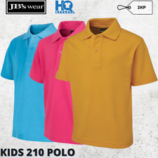 Kids Signature Polo Children Collar Luxury Casual Poly Cotton Shirt Size 2-14