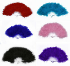 Details about  Fancy Dress Feather Hand Fan Burlesqe  Party Supplies Creative