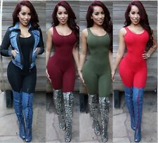 Sexy Womens Backless Jumpsuit Romper Party Club Sleeveless Bodycon Slim Pants